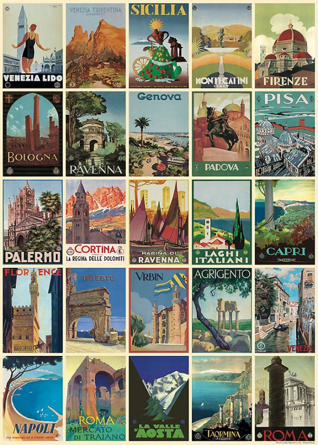 Cavallini Italian Postcards Wrapping Paper