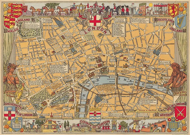 Cavallini London Map Wrapping Paper