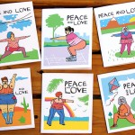 Set of 6 Peace and Love Body Positive cards by Merci-Bleh-Bleh