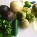 Rosted Tomatillo Guacamole by InspiredRD
