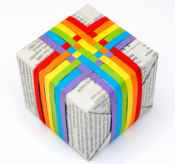 DIY Woven Paper Gift Topper / Mini Eco