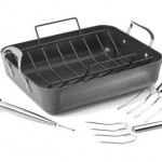 Calphalon Nonstick Roaster with Lifters and Baster