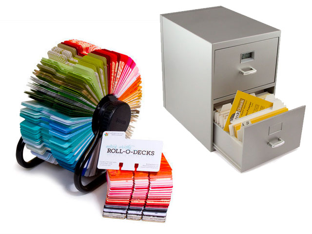 Business Card Rolodex Lowtech Biz Card Retrieval Rolodex