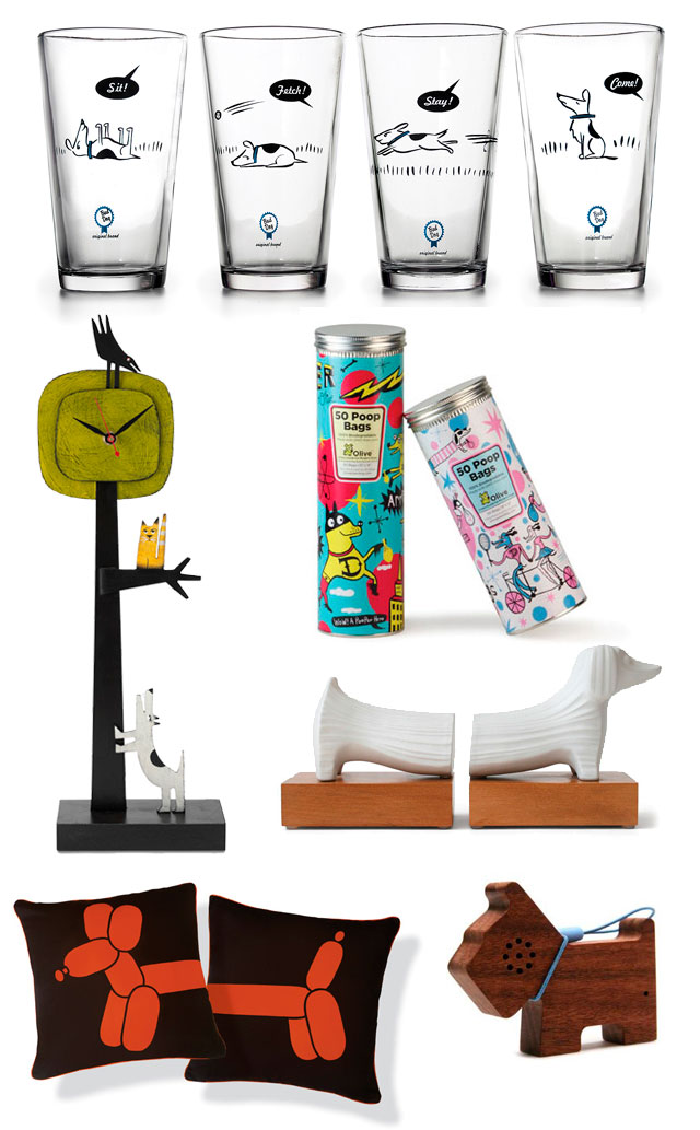 Wonderful Good Gifts For Dog Lovers Part - 6: Bad Dog Tumblers From Uncommon Goods, Barking Up A Tree Clock From Uncommon  Goods, Stylish Poop Bags From Olive, Dachsund Bookends By Jonathan Adler,  ...