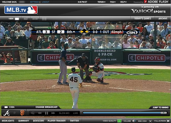 MLB.TV Screenshot