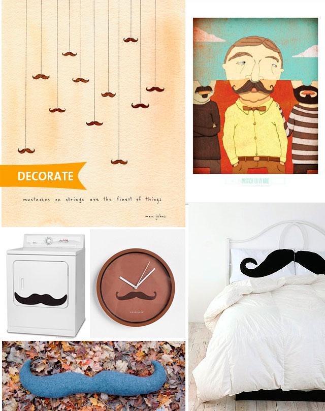 Movember Mustache Decor