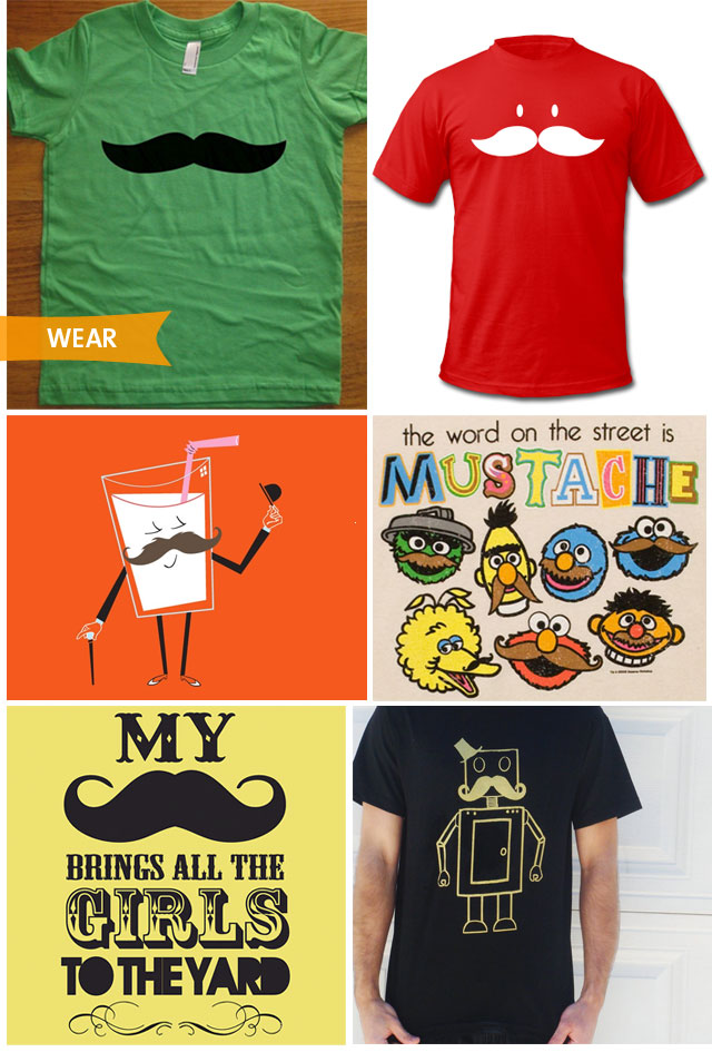 Movember Mustache tees
