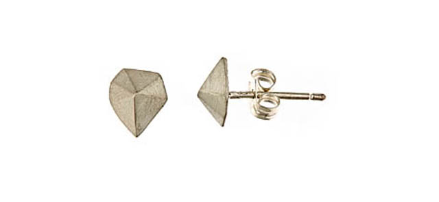 faux stud earrings
