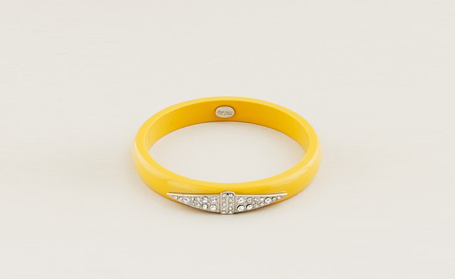 art deco bangle yellow