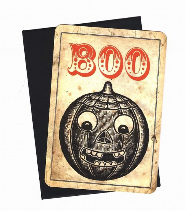 vintage Halloween pumpkin card