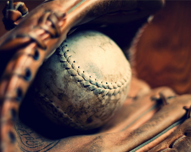 Ball and Glove Fine Art Photograph by Alison Uher