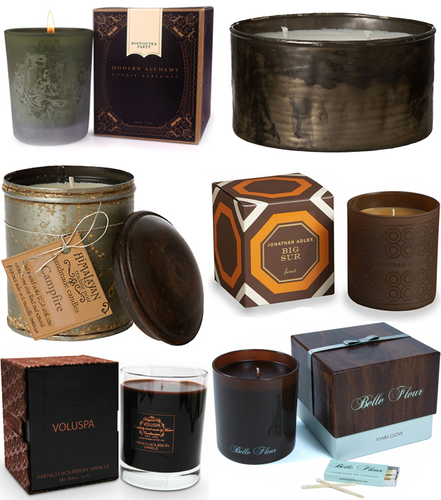Autumn Candles - brown collage