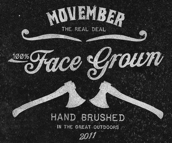 Movember - Face Grown Hand Brushed 2011