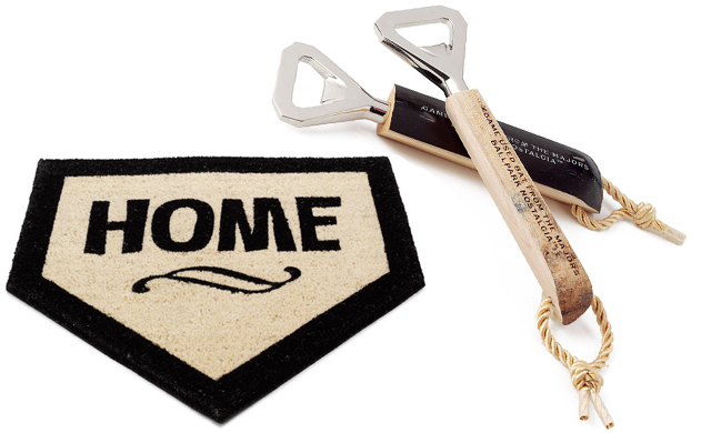 Home Plate Doormat and BaseBall Bat Opener