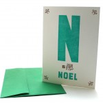 N is for Noel – Alphabet Greeting Card by Heartfish Press
