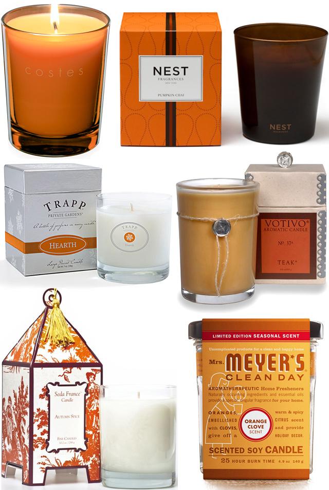 Autumn Candles - orange collage