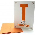 T is for Thank You – Alphabet Greeting Card by Heartfish Press