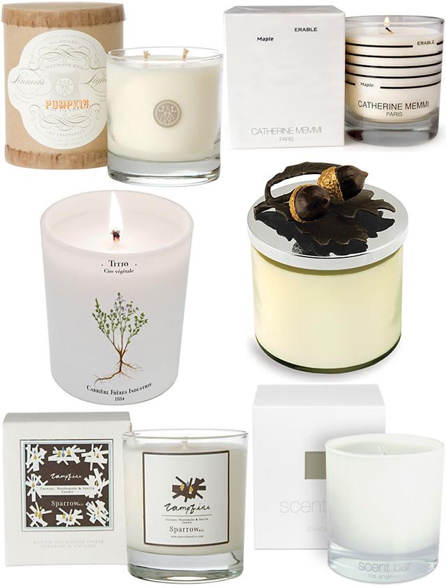 Autumn Candles - white collage
