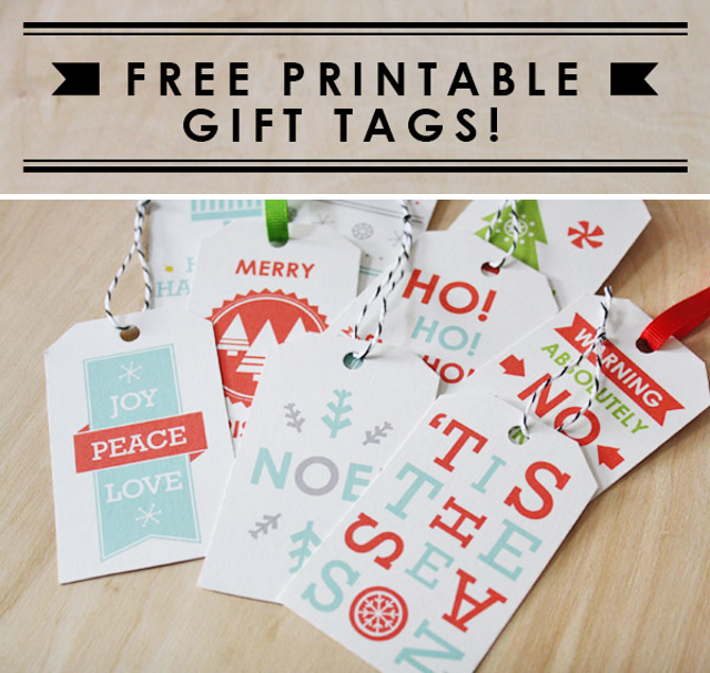 Free Printable Gift Tags from Sass&amp;Peril