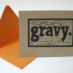 Gravy card by Little Gray Owl