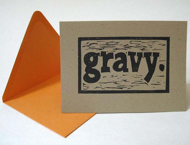 Gravy card by Little Gray Owl