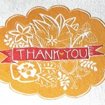 Letterpress Thank You Cards by 1canoe2