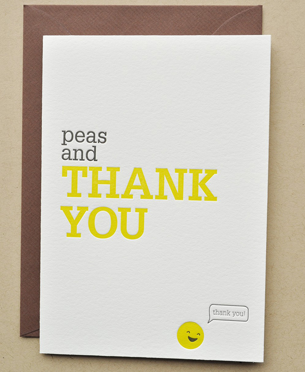 Peas and Thank You by Impressed Design