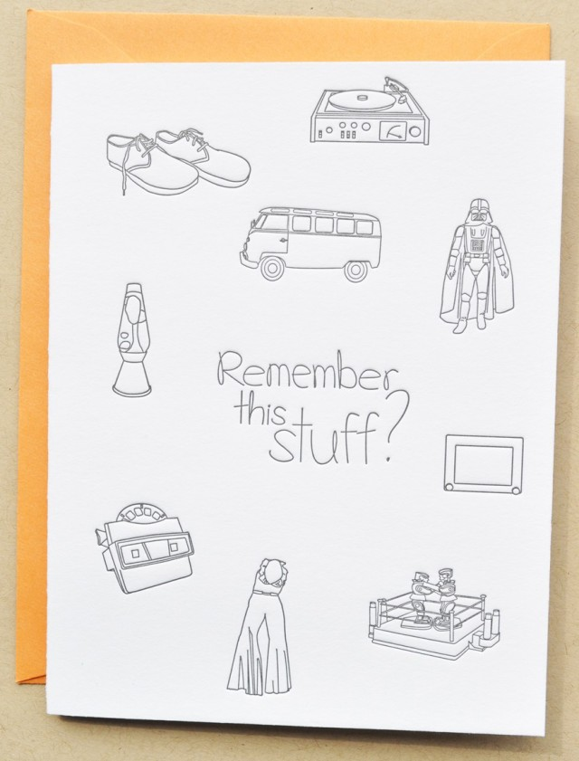 1970s Memories Letterpress Birthday Card by Impressed Design
