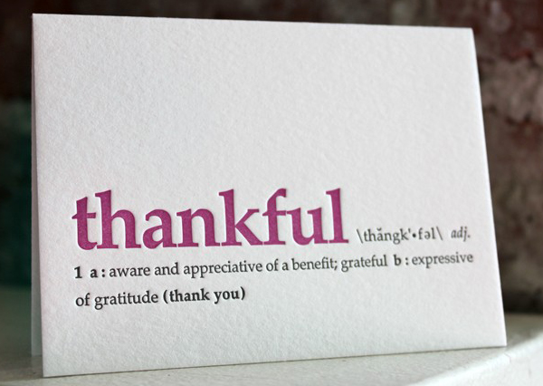 thank you. letterpress definition card by Sapling Press