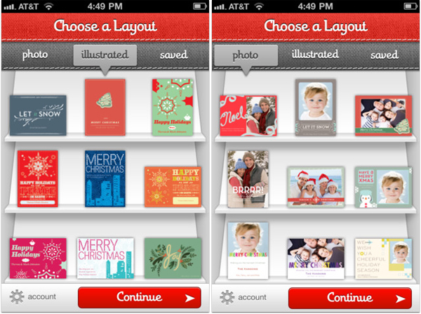 Sincerely Ink Holiday Card App for iPhone iPad Android