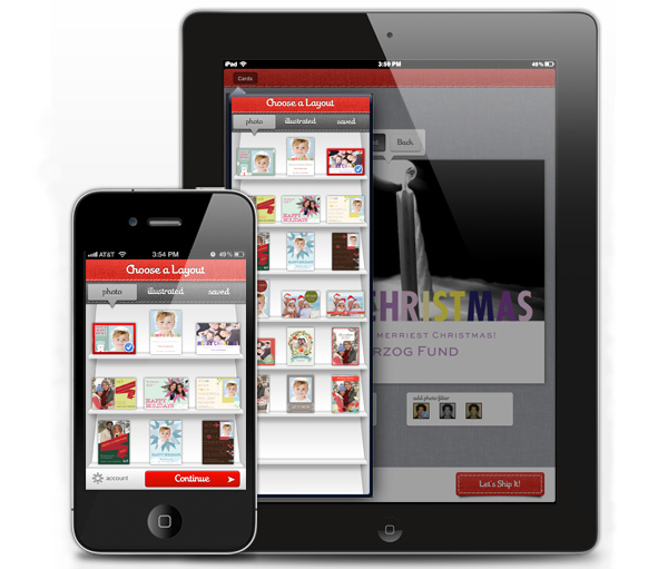 Sincerely Ink Holiday Card App for iPhone and iPad