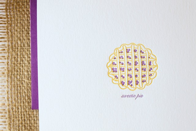Sweetie Pie card by Paper Lovely Press