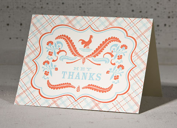Hey Thanks Rooster by Hammerpress