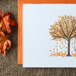 Fall Tree Card by Paper Lovely Press