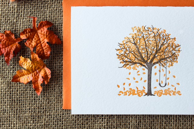 Fall Tree Cards by Paper Lovely Press