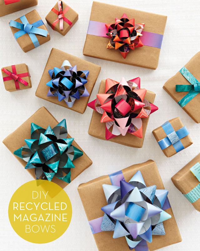 DIY Recycled Magazine Bows