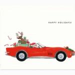 Santa Corvette card by Dear Hancock