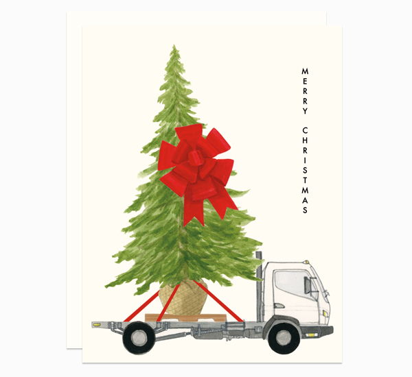 Tree on a Flatbed card by Dear Hancock