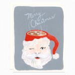 Santa Mug card by Dear Hancock
