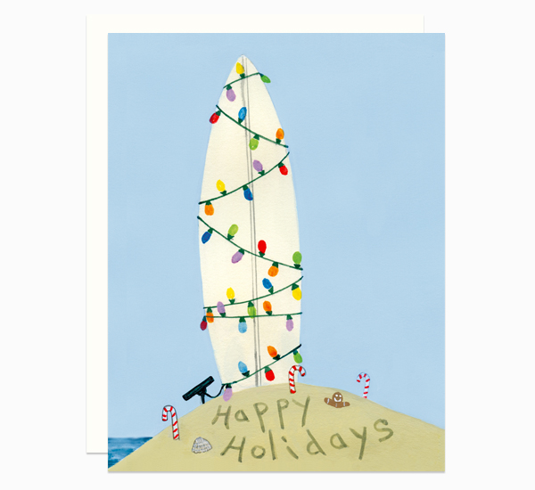 Surf Holiday card by Dear Hancock