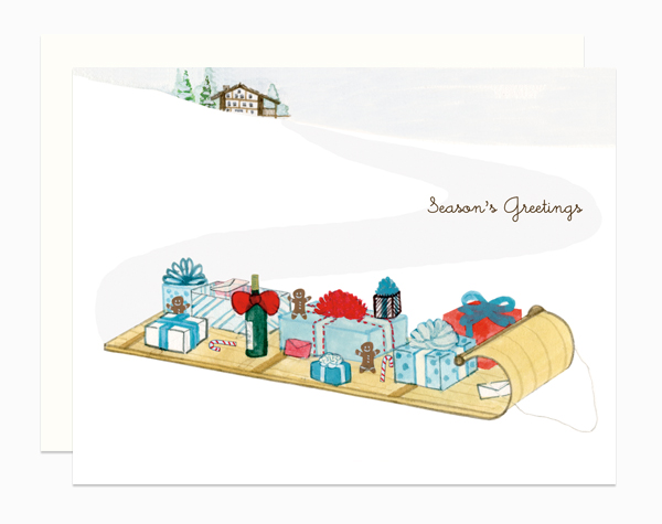 Toboggan card by Dear Hancock