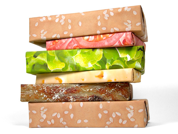 Gift Couture Cheeseburger Wrapping Paper