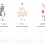 2012 vintage fashion calendar