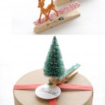 Adorned Glitter Clothespin Gift Toppers by Creature Comforts