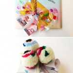 Confetti Bow Ribbion and Pom Pom Topper by Hello Sandwich
