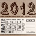 2012 Rustic Letterpress Calendar by Yeehaw Industries