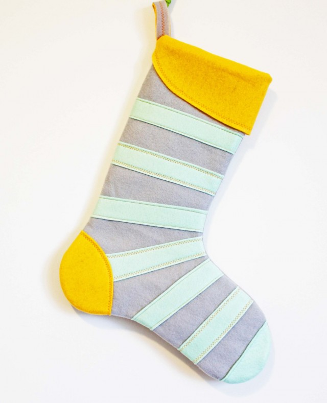Mint Mod Stripe Stocking by MissMosh