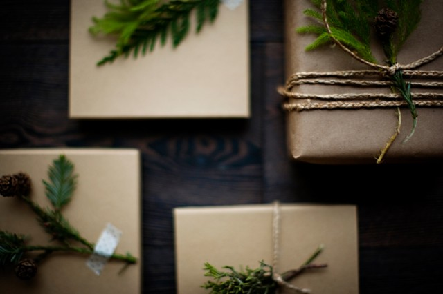 Rustic, Wintery Wrapping Inspiration by Sunday Suppers
