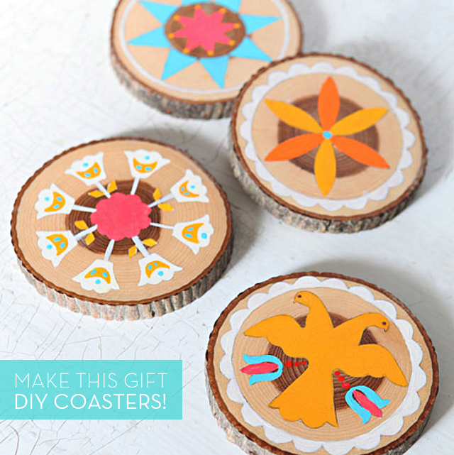 DIY Paint-by-Numbers Style Coasters