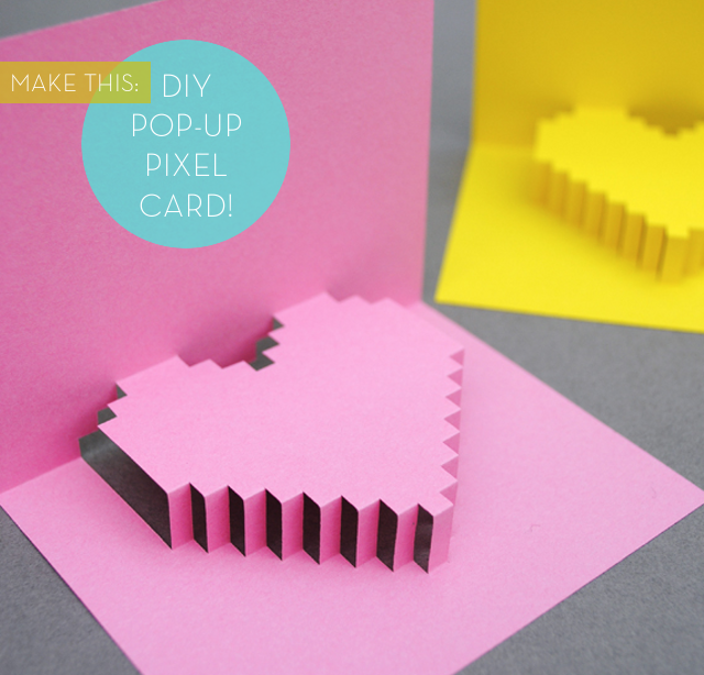 Pretty in Pixels Make a DIY PopUp Pixel Card for Valentines Day – Pop-up Birthday Card Printable
